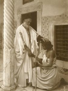 La bénédiction, Tunisie, vers 1900-1910